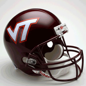 Virginia Tech Hokies Full Size Replica Riddell Helmet